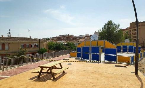 Murcia concluye las obras de la nueva pista polideportiva del barrio lorquino de Cristo Rey