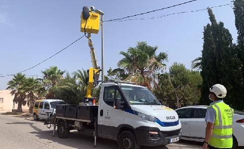 Murcia mejora la visibilidad en los accesos a la pedanías con la instalación de nuevas luminarias de bajo consumo
