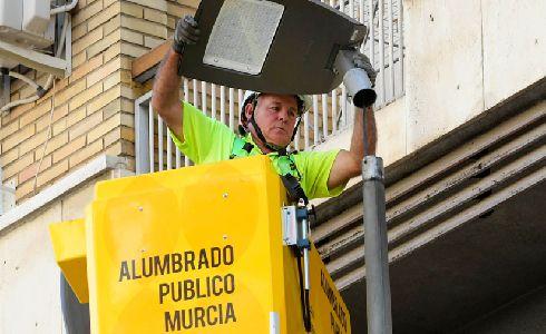 Murcia reduce la emisión de 50 toneladas anuales de CO2 a la atmósfera con el nuevo alumbrado LED
