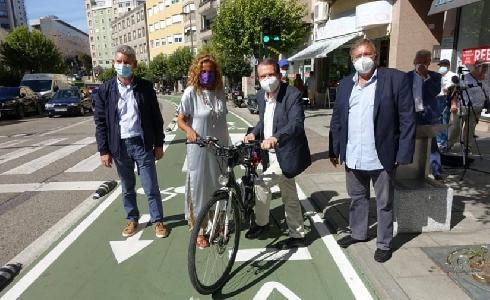 Nuevo carril bici en Vigo