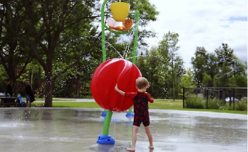 Parque de agua urbano como espacio de refresco en las ciudades