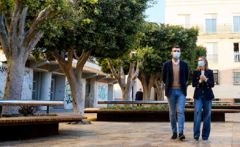Plaza Careaga, un espacio peatonal más accesible y con más vegetación en pleno Centro Histórico de Almería