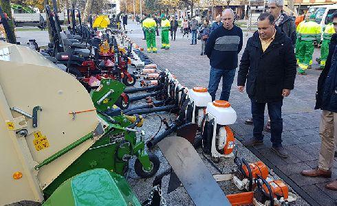 Presentado el nuevo equipamiento para el servicio de jardinería de Avilés