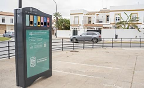 San Fernando instala cinco minipuntos limpios para el reciclaje de residuos de pequeño tamaño