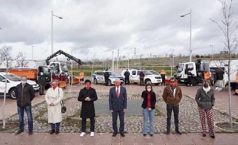 San Sebastián de los Reyes presenta los nuevos vehículos y medios que se incorporan al Plan de inclemencias invernales