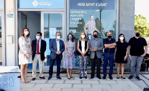 Sant Cugat acoge un proyecto europeo para fomentar la intermodalidad entre bici y tren