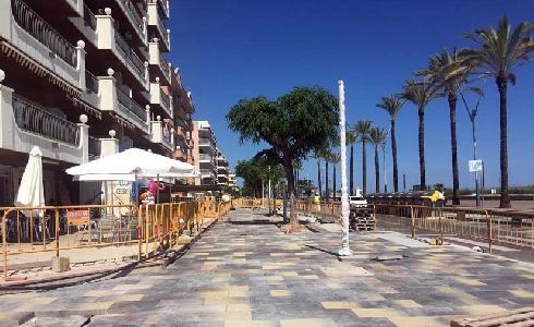 Último empujón para terminar las obras en el Paseo Marítimo de Segur este mismo julio