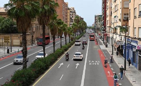 Valencia aprueba el proyecto de peatonalización provisional de las avenidas Giorgeta y Pérez Galdós