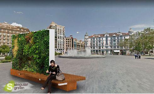 Valladolid adjudica las obras para larenaturalizaciónde espacios urbanos e instalación de varios jardines verticales