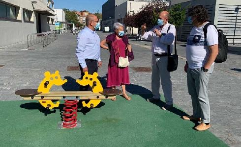 Valladolid cuenta con nuevos juegos infantiles y elementos biosaludables