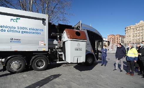 Valladolid probará el nuevo camión eléctrico de recogida de residuos desarrollado por Irizar y FCC