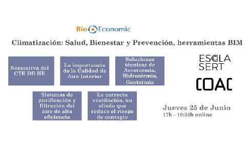 """Webinar de BioEconomic: """"Climatización Salud, Bienestar y Prevención, herramientas BIM"""""""