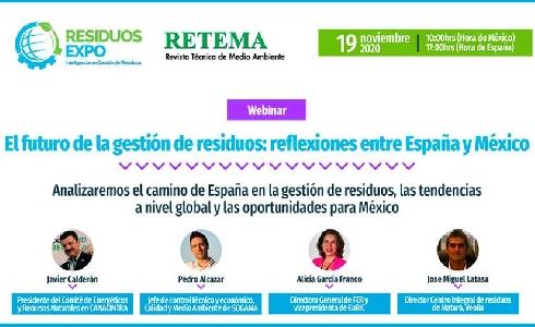 Webinar de RETEMA y Residuos Expo para encontrar alianzas España-México