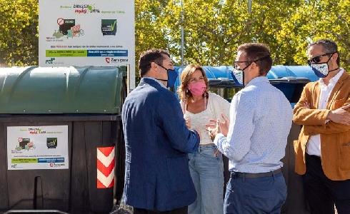 Zaragoza colocará carteles en 4000 contenedores para fomentar un uso adecuado y lograr una ciudad más limpia