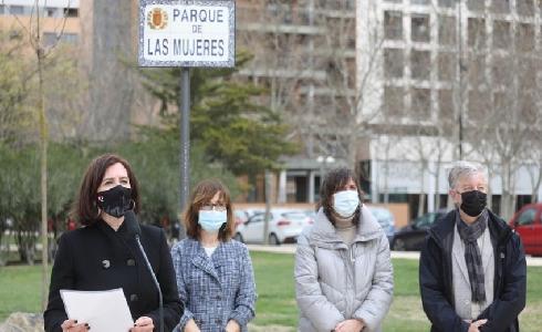 Zaragoza inaugura el Parque de las Mujeres y reconoce su papel en la historia
