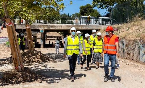 Zaragoza renueva el eje central del Parque Torre Ramona y mejora su accesibilidad