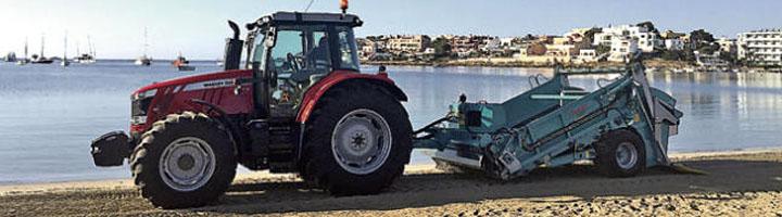 Nueva maquinaria para la limpieza de playas de Ibiza