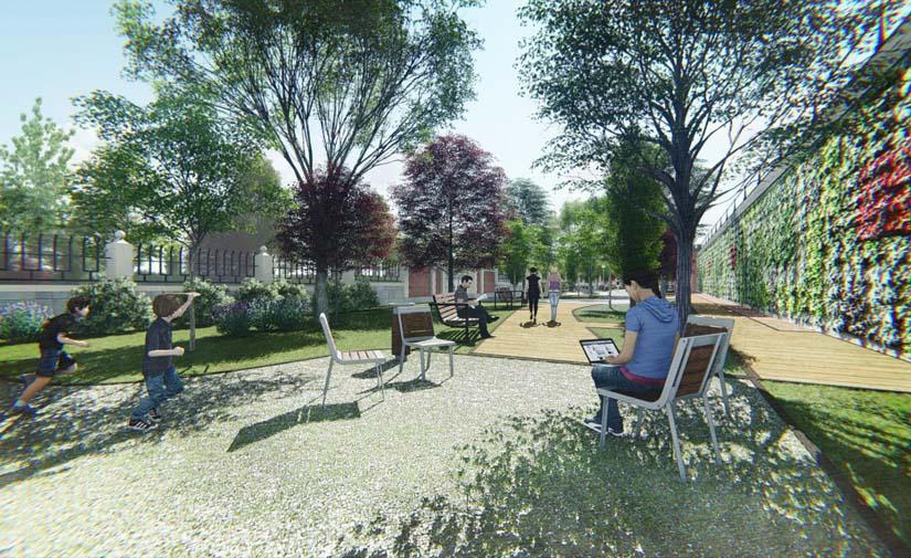 Sorigué inicia las obras del futuro parque Bravo Murillo en las oficinas centrales de Canal de Isabel II en Madrid