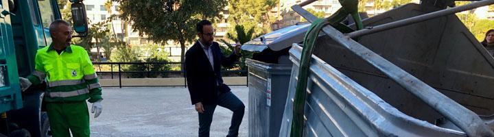 Instalados 150 nuevos contenedores en los núcleos urbanos de Elche y reparados 213 de los caminos del Camp d'Elx
