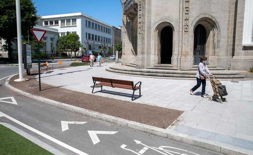 Terminan los trabajos en A Coruña para mejorar la accesibilidad en la Avenida Gran Canaria