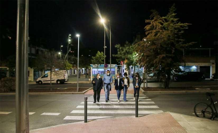 Toledo inaugura el nuevo alumbrado público de la avenida Guadarrama