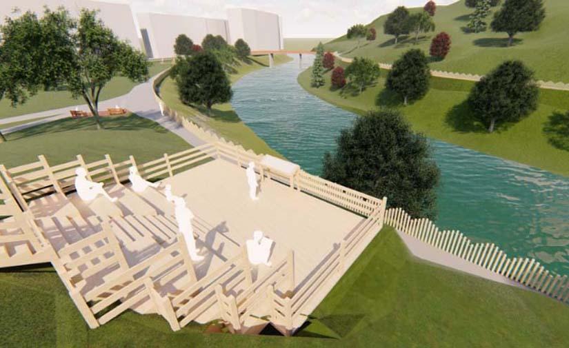 Transformación del Parque Ibaieder de la Peña en Bilbao con la ejecución de tres zonas estanciales