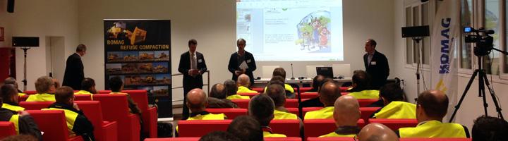 BOMAG elige el Complejo Medioambiental de Valsequillo para la presentación de su nueva generación de máquinas compactadoras