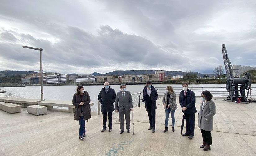 Un bulevar y un puente para bicis y peatones conectarán Bilbao, Erandio, Barakaldo, Leioa y Getxo en 2024