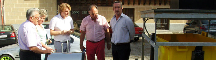 Segovia instala nuevas isla de contenedores soterrados
