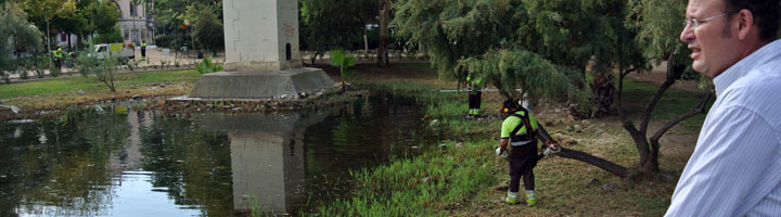 Murcia multiplica los trabajos en parques y jardines durante los meses estivales