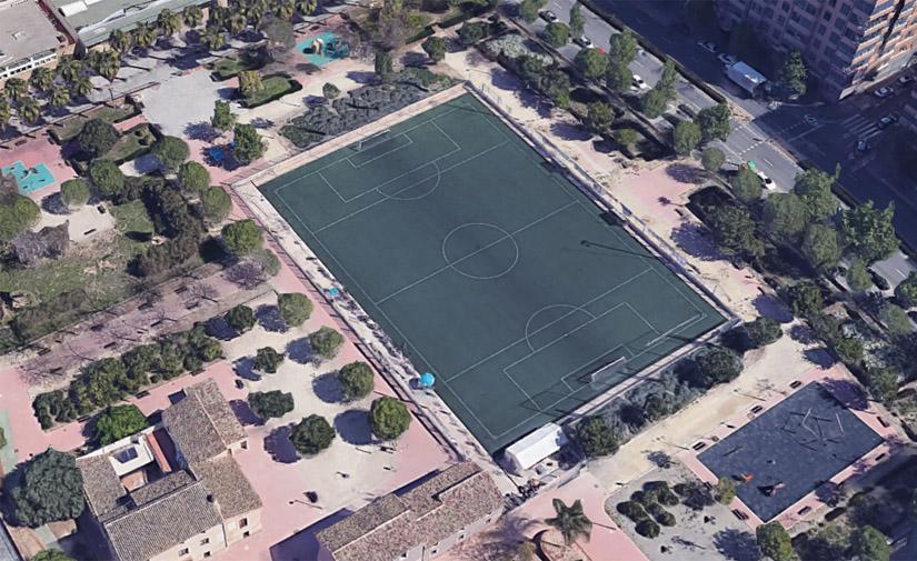 València ampliará el campo de fútbol del barrio de Torrefiel y mantendrá la zona verde