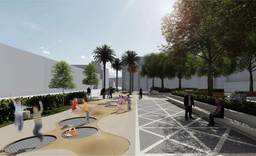 València aprueba el nuevo diseño del jardín de la plaza de la Mare de Déu del Castell
