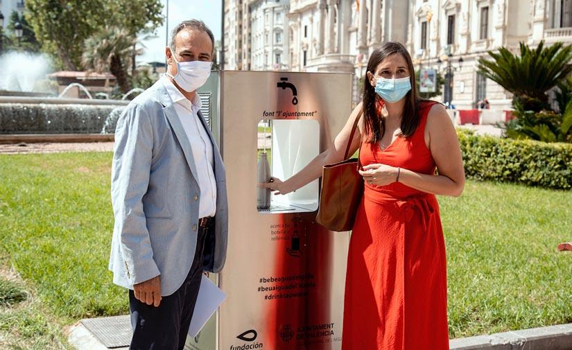 Valencia estrena una nueva generación de fuentes públicas de agua fresca