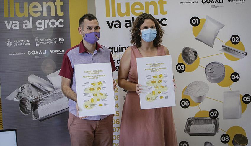 València, pionera en el reciclado de productos de aluminio y acero ligero a través del contenedor amarillo