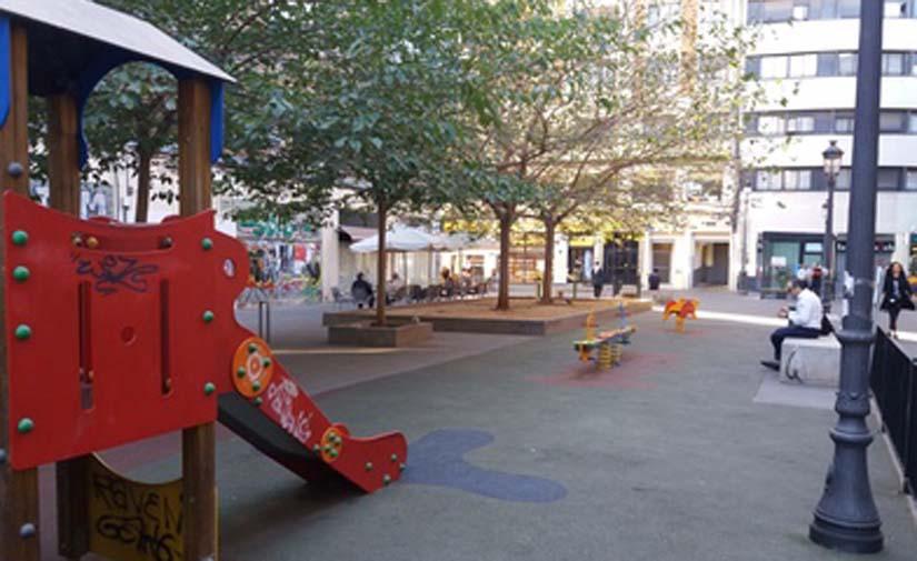 Valencia remodelará y ampliará la zona de juegos del parque en Calle Vinatea de Ciutat Vella