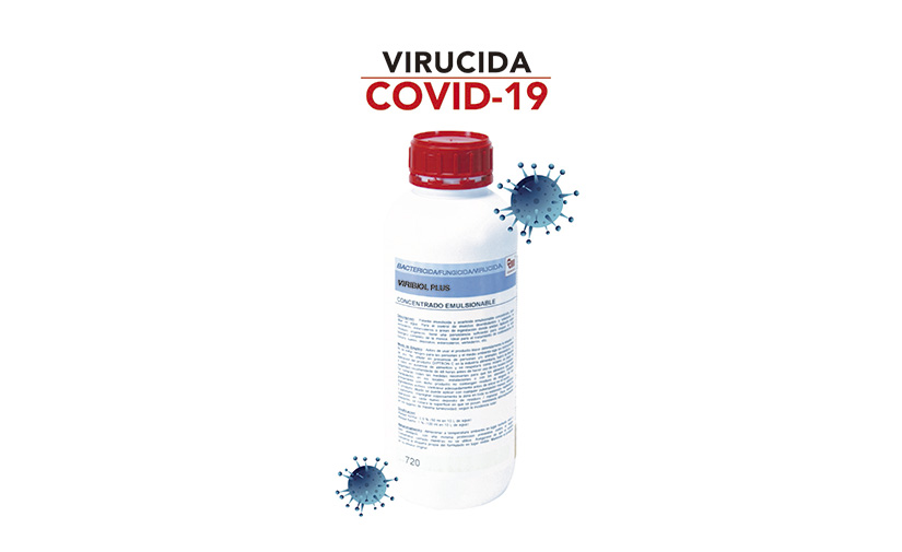 VIRIBIOL PLUS, virucida con eficacia frente a virus envueltos como coronavirus