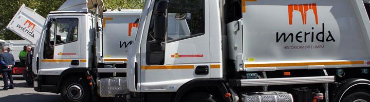FCC presenta diez nuevos vehículos para recogida, limpieza y parques y jardines de Mérida