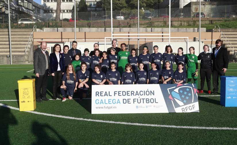 Xunta, Ecoembes y Federación Gallega de Fútbol colaborarán para acercar la recogida selectiva a un centenar de campos e instalaciones