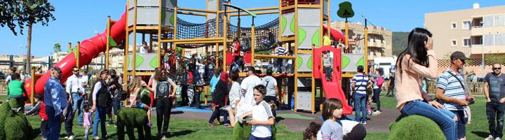 Inaugurado el gran parque infantil de Cas Capitá en Santa Eulària des Riu