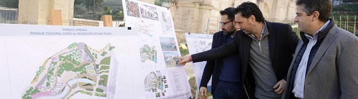 Málaga convertirá el entorno del acueducto de San Telmo, a su paso por arroyo Quintana, en una centralidad de Ciudad Jardín
