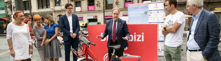 Bilbao presenta la nueva bicicleta de pedaleo asistido del servicio de préstamo Bilbon Bizi