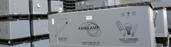AMBILAMP realizará la recogida de los residuos de lámparas y luminarias de Numancia de la Sagra