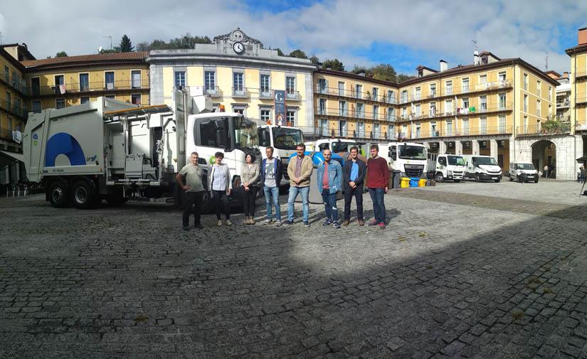 Ya están en las calles de Tolosaldea los nuevos camiones de recogida de residuos