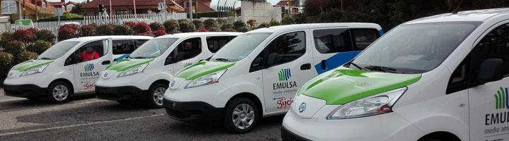 Cuatro nuevas furgonetas eléctricas en la flota de EMULSA