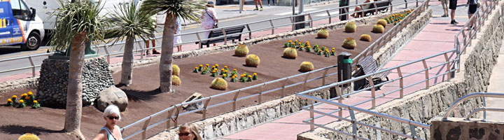 Mogán implanta un modelo de jardines sostenibles regados con agua reciclada