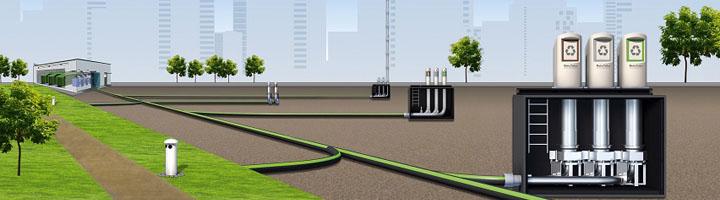 La solución automatizada de recogida de residuos de MariMatic AB controla el peso de los residuos en Vallastaden (Suecia)