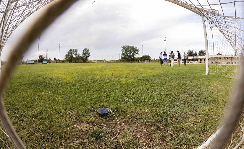 Zaragoza renueva el césped de once campos municipales de fútbol