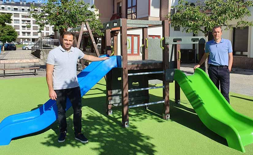 Zarautz cuenta con el primer parque infantil fabricado con plástico reciclado de España